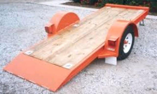 Where to find FLATBED TILT TRAILER, SNG AXLE  Red in Omaha