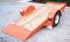 Rental store for FLATBED TILT TRAILER, SNG AXLE  Red in Omaha NE
