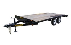 Rental store for FLATBED, DBL AXLE 6X14 Blue, Above Wheel in Omaha NE