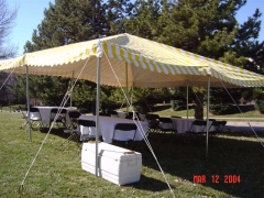 Where to rent CANOPY, 20X20 YELLOW   WHITE in Omaha NE