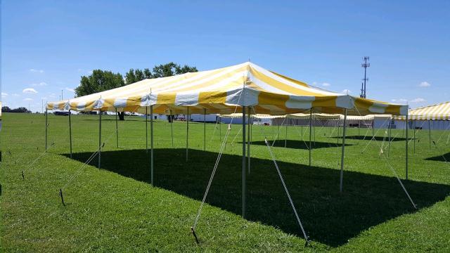 Canopy 20x40 Yellow White Rentals Omaha Ne Where To Rent