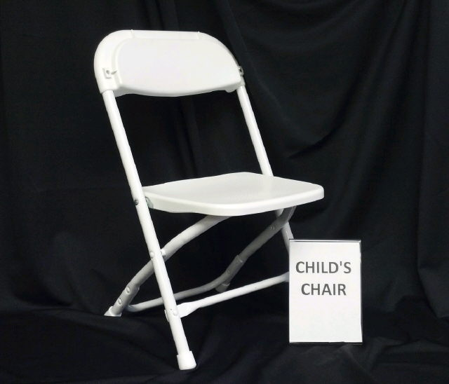 Where to find CHAIR, CHILDS FOLDING WHITE in Omaha