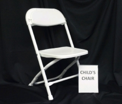 Where to rent CHAIR, CHILDS FOLDING WHITE in Omaha NE