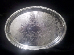 Where to rent TRAY, SILVER OVAL LG BEADED in Omaha NE