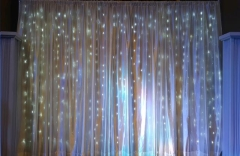 Where to rent DRAPE, WHITE LED CURTAIN 3  X 8 in Omaha NE