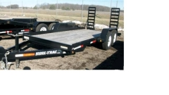 Where to rent TRAILER, DBL-AX 82 x16   BLACK in Omaha NE