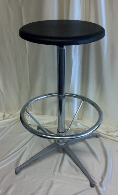 Where to rent BAR STOOL - BLACK POLY SEAT in Omaha NE
