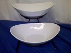 Where to rent OVAL 2- PORCELAIN BOWL W STAND in Omaha NE