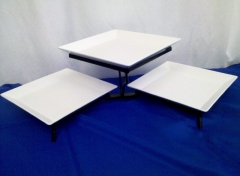 Rental store for SQUARE 3-PLATTER SET W STAND in Omaha NE