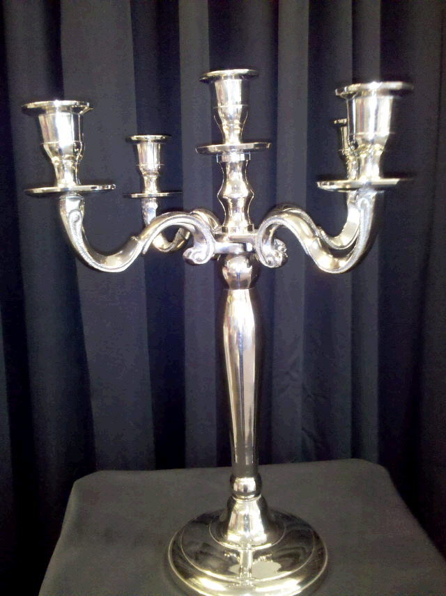 Where to rent CANDELABRA, NICKEL  TABLE  EA in Omaha NE and Lincoln NE