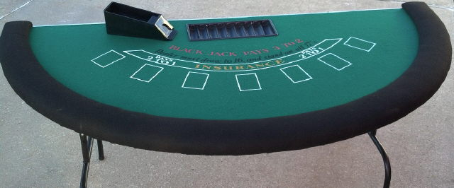 Blackjack Table Deluxe 72 Inch Rentals Omaha Ne Where To
