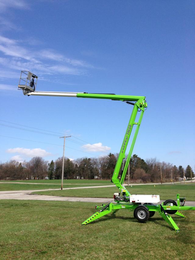 Towable Manlift 50 Ft 28 Ft 6 Inch Rentals Omaha Ne Where