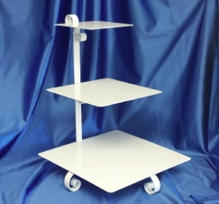 Rental store for SQUARE WHITE 3-TIER CAKE STAND in Omaha NE