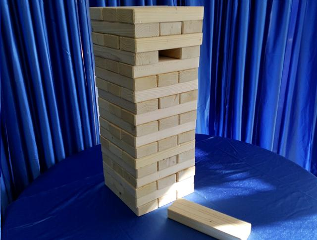 Block Tower Game Inch Giant Inch 54 Pc Rentals Omaha Ne