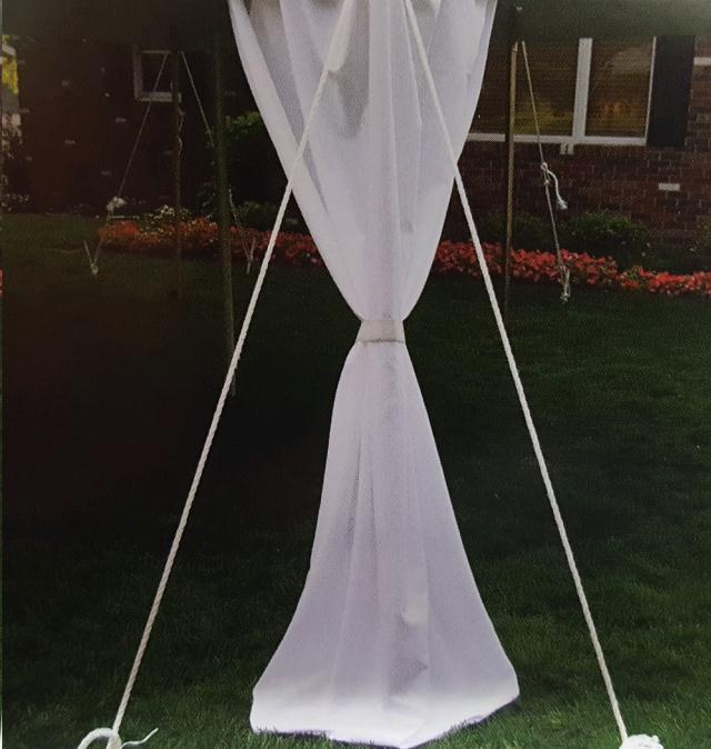 Canopy Leg Skirt 7 Ft White Rentals Omaha Ne Where To