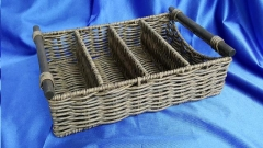 Where to rent BASKET, WICKER FLATWARE 4 Slot in Omaha NE