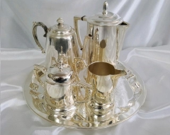 Rental store for COFFEE SERVICE, 5-PC LACE SILVER in Omaha NE