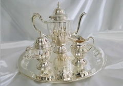 Rental store for COFFEE SERVICE, 4-PC SCALLOP SILVER in Omaha NE