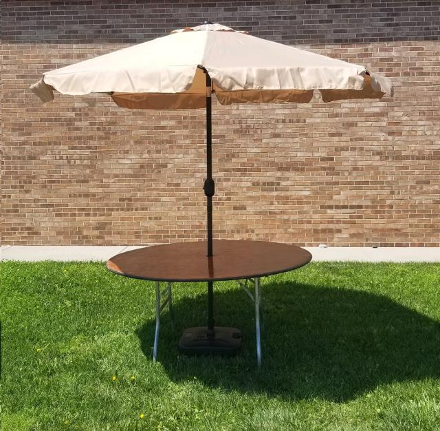 Where to find MARKET UMBRELLA, 9 FT KHAKI in Omaha