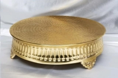 Rental store for HAMMERED GOLD 14  Rd Ribbed Cake Stand in Omaha NE