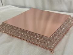 Rental store for CAKE STAND, Rose Gold Gem 15  Square in Omaha NE