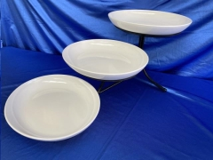 Rental store for OVAL 3-WHITE BOWL SET W STAND in Omaha NE