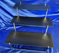 Rental store for CHROME 3-TIER W BLACK TRAYS in Omaha NE