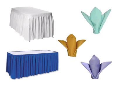 Rent Napkins, Skirts & Ties